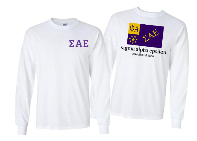 Sigma Alpha Epsilon Long Sleeve Flag Tee
