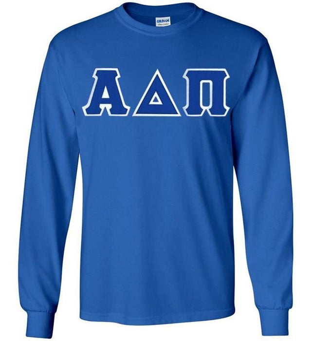 Alpha Delta Pi Long Sleeve Greek Lettered Tee