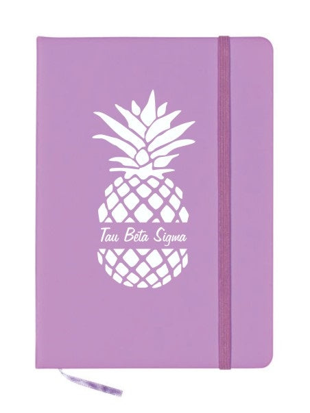Tau Beta Sigma Pineapple Notebook