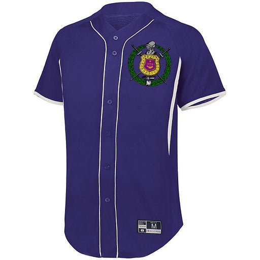 Omega Psi Phi 7 Full Button Baseball Jersey