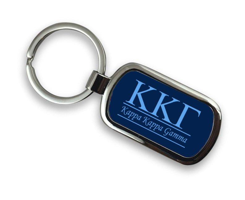 Kappa Kappa Gamma Chrome Key Chain
