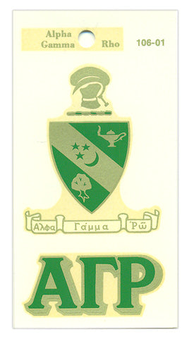 Alpha Gamma Rho Crest Decal