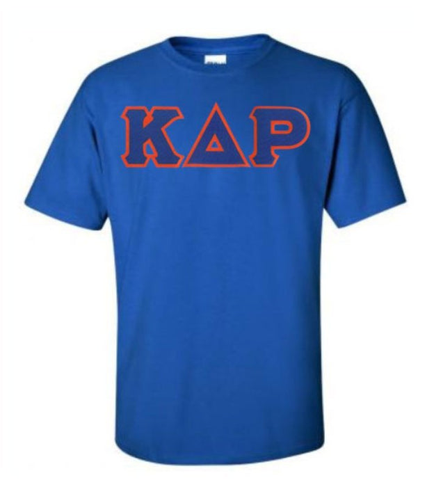 Kappa Delta Rho Short Sleeve Crew Shirt with Sewn-On Letters