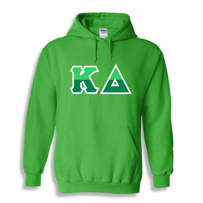 Kappa Delta Two Toned Lettered Hooded Sweatshirt