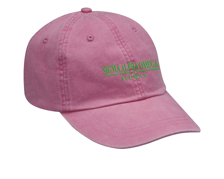 Sigma Alpha Omega Custom Embroidered Hat