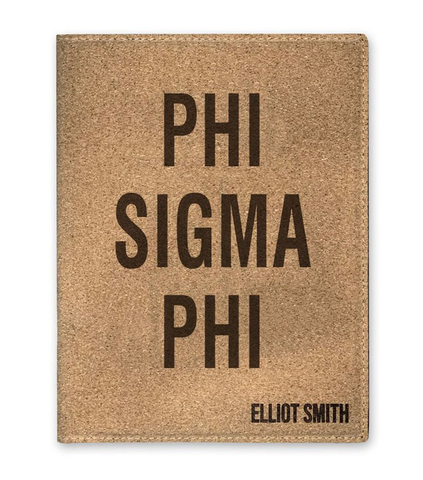 Phi Sigma Phi Cork Portfolio with Notepad