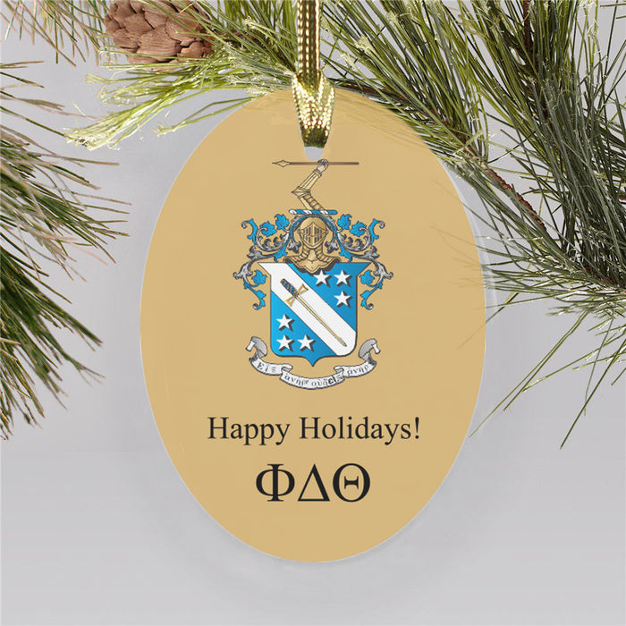 Phi Delta Theta Color Crest Ornament