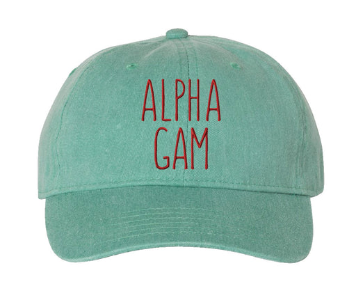 Alpha Gamma Delta Knit Beanie Pom Winter Hat