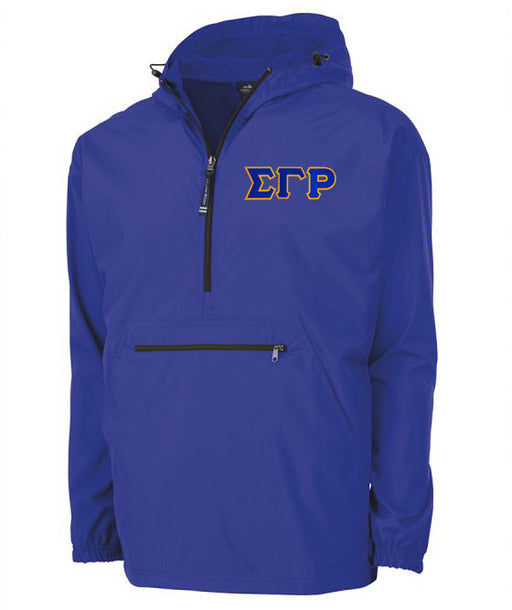 Sigma Gamma Rho Embroidered Pack and Go Pullover
