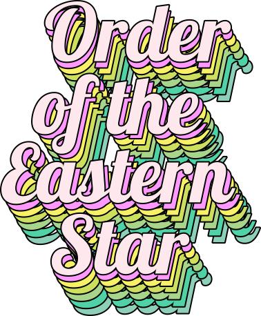 Order Of The Eastern Star Greek Stacked Sticker