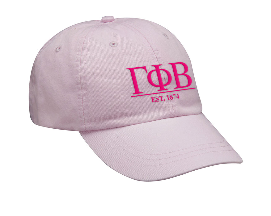 Gamma Phi Beta Letters Year Embroidered Hat