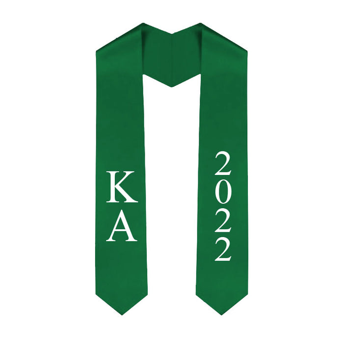 Kappa Delta Vertical Grad Stole with Letters & Year