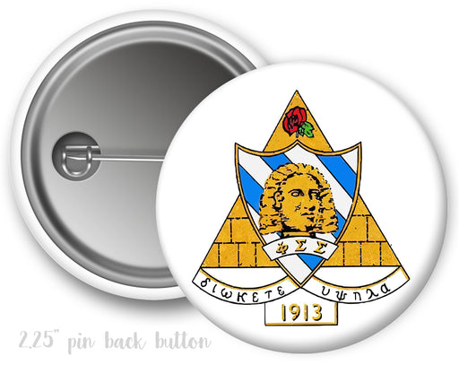Phi Sigma Sigma Color Crest Button