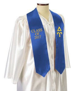 Delta Upsilon Classic Colors Embroidered Grad Stole