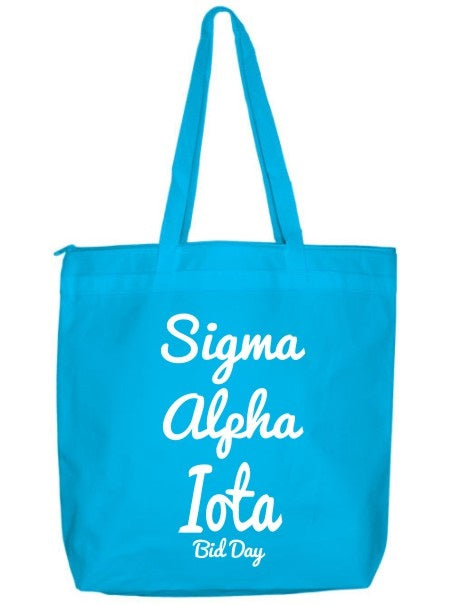 Sigma Alpha Iota Zippered Poly Tote