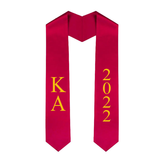 Kappa Alpha Vertical Grad Stole with Letters & Year