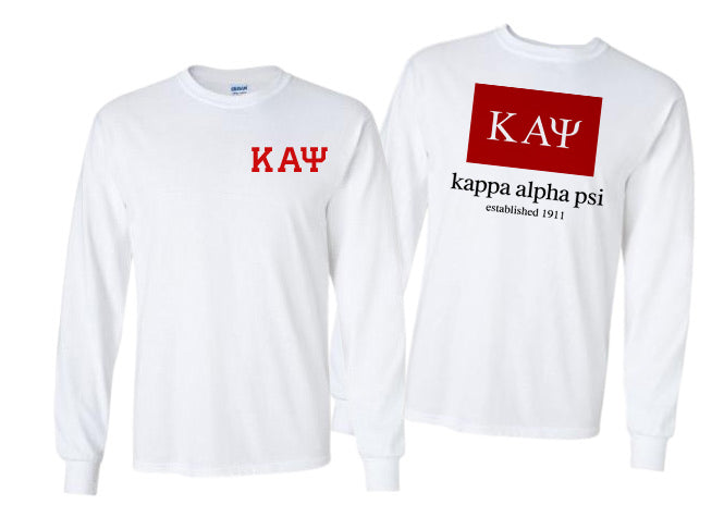 Kappa Alpha Psi Long Sleeve Flag Tee