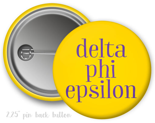 Delta Phi Epsilon Simple Text Button