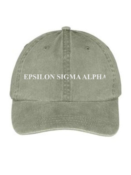Epsilon Sigma Alpha Embroidered Hat