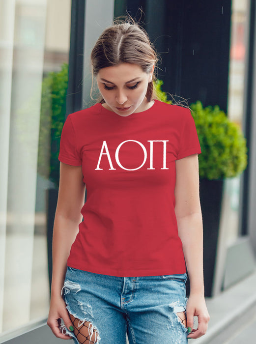 Alpha Omicron Pi University Letter T-Shirt