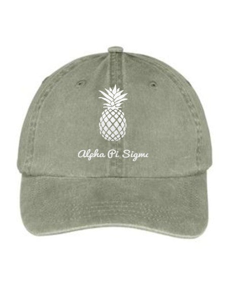 Alpha Pi Sigma Pineapple Embroidered Hat