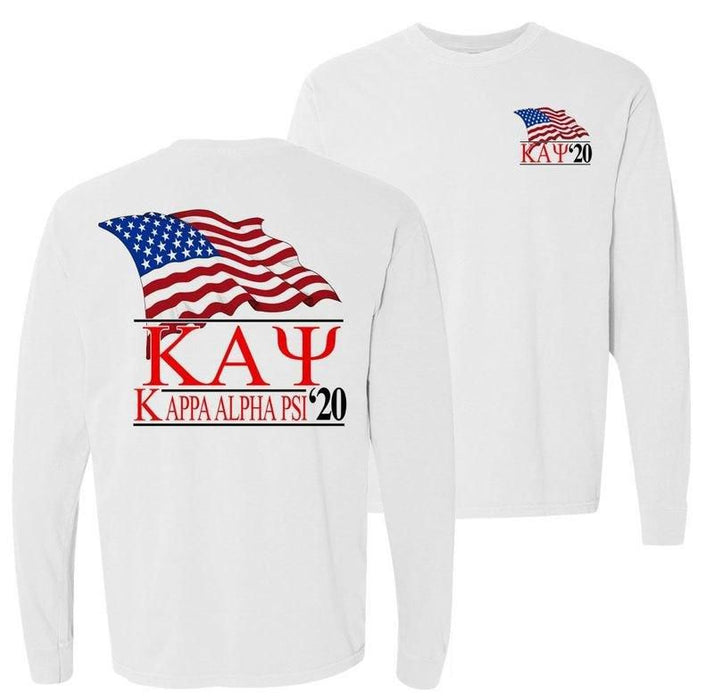 Kappa Alpha Psi Patriot Flag Comfort Colors Long Tee