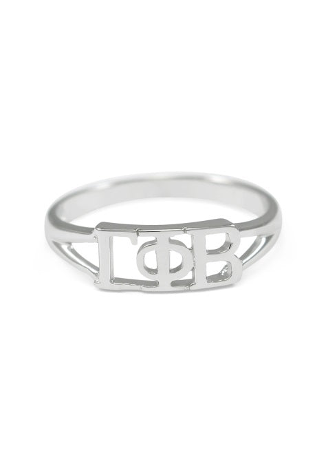 Gamma Phi Beta Sterling Silver Ring