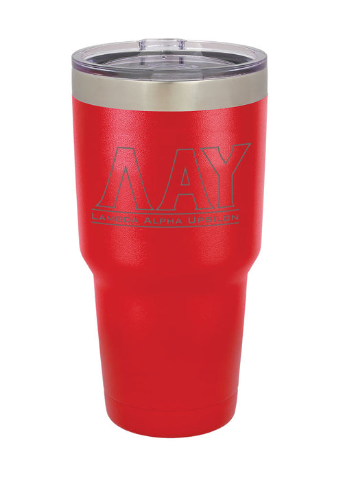 Lambda Alpha Upsilon Vacuum Insulated Tumbler