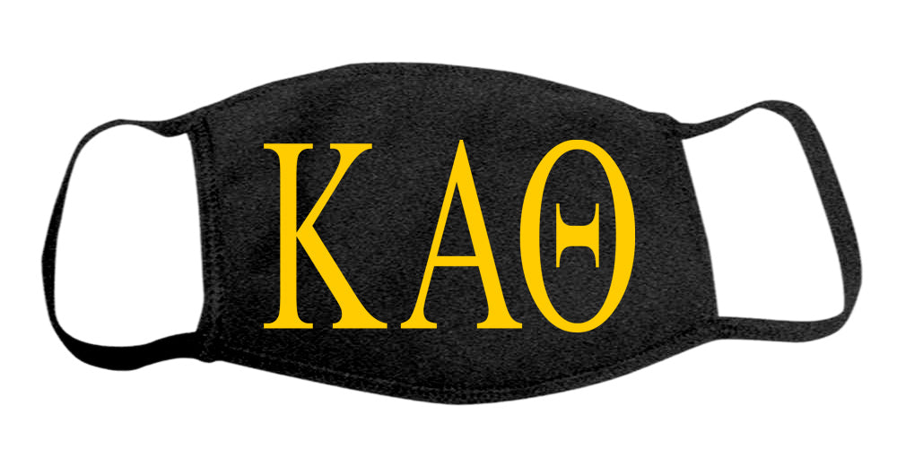 Kappa Alpha Theta Face Mask With Big Greek Letters
