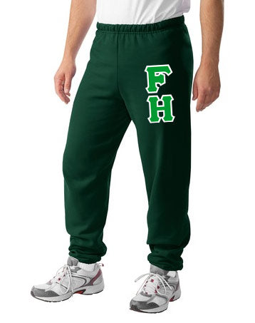 Farmhouse Sweatpants with Sewn-On Letters