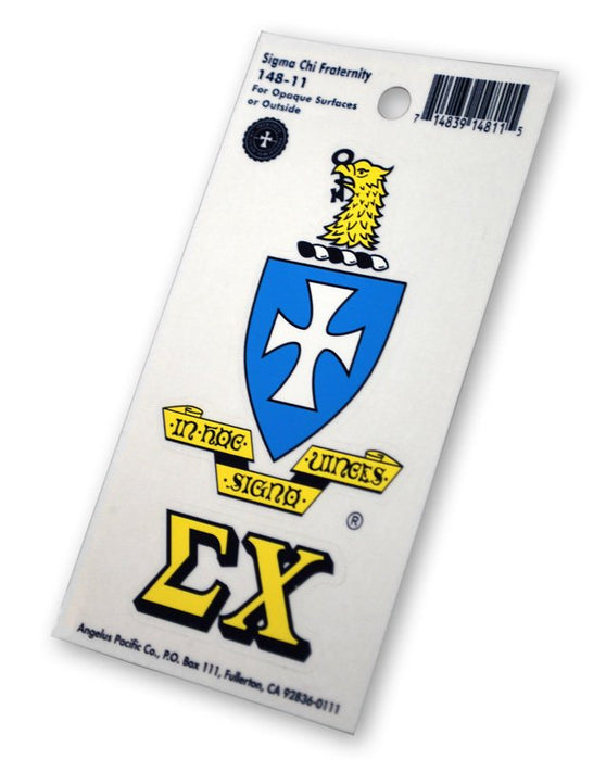 Sigma Chi Crest Decal