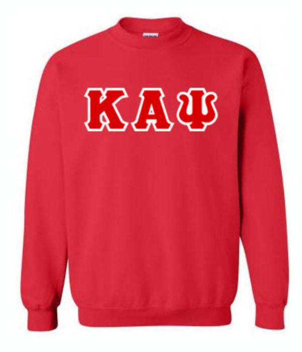 Kappa Alpha Psi Classic Colors Sewn-On Letter Crewneck
