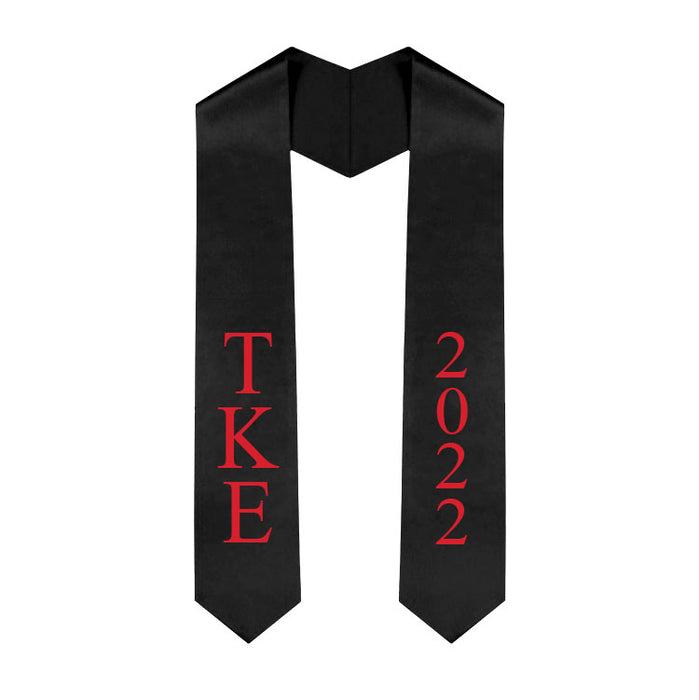 Tau Kappa Epsilon Vertical Grad Stole with Letters & Year
