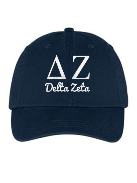 Delta Zeta Collegiate Curves Hat