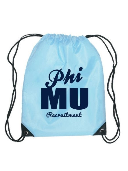 Phi Mu Cursive Impact Sports Bag