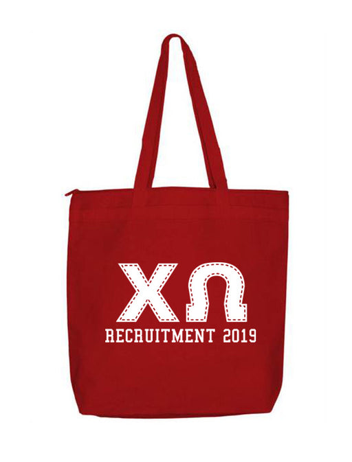 Chi Omega Collegiate Letters Event Tote Bag