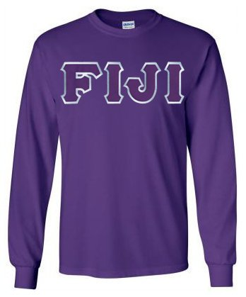 Phi Gamma Delta Long Sleeve Greek Lettered Tee