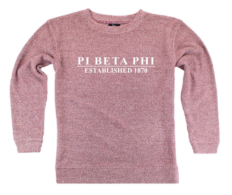 Pi Beta Phi Year Established Cozy Sweater