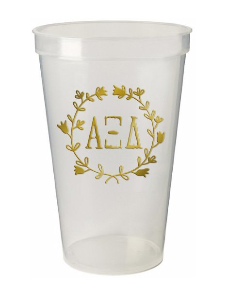 Alpha Xi Delta Wreath Giant Plastic Cup