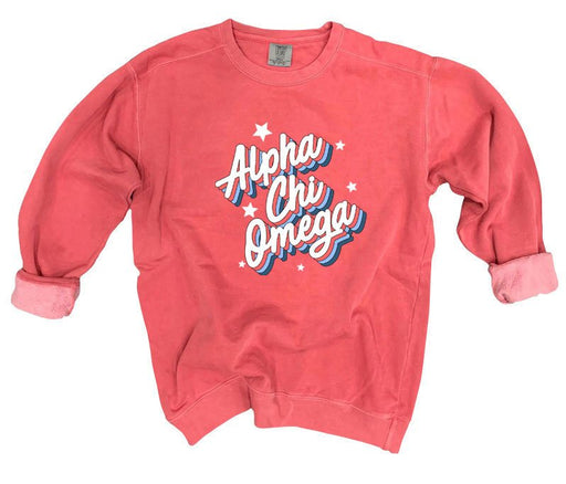 Sweatshirts Comfort Colors Throwback Sorority Sweatshirt