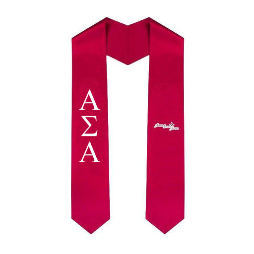 Alpha Sigma Alpha Simple Sash Stole