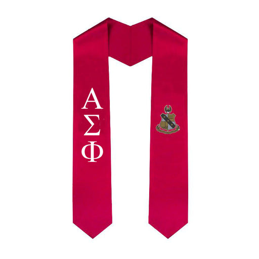Alpha Sigma Phi Simple Sash Stole