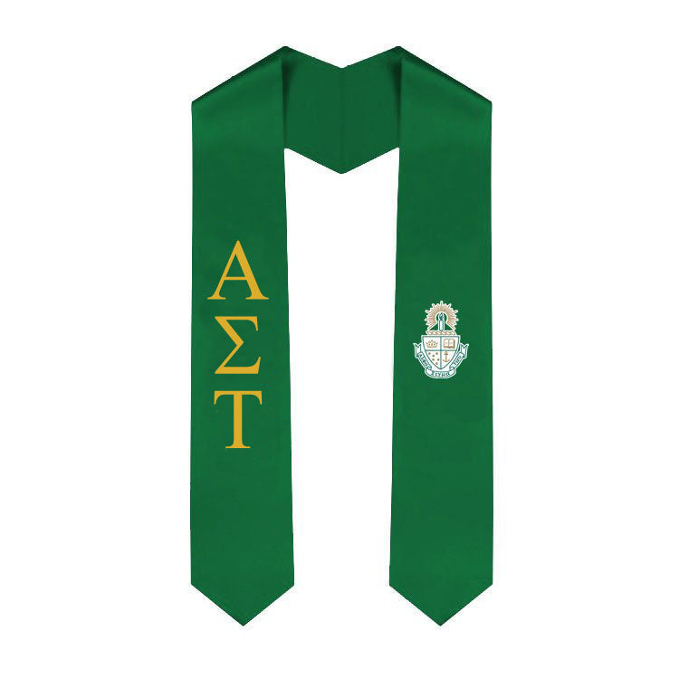 Alpha Sigma Tau Simple Sash Stole Alpha Sigma Tau Simple Sash Stole
