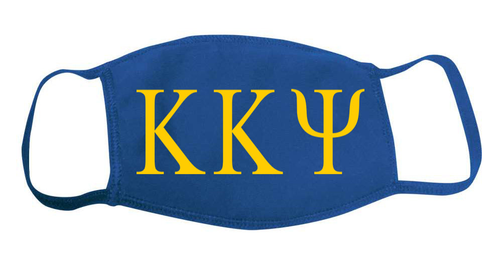 Kappa Kappa Psi Face Mask With Big Greek Letters