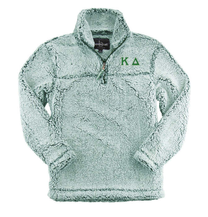Kappa Delta Embroidered Sherpa Quarter Zip Pullover