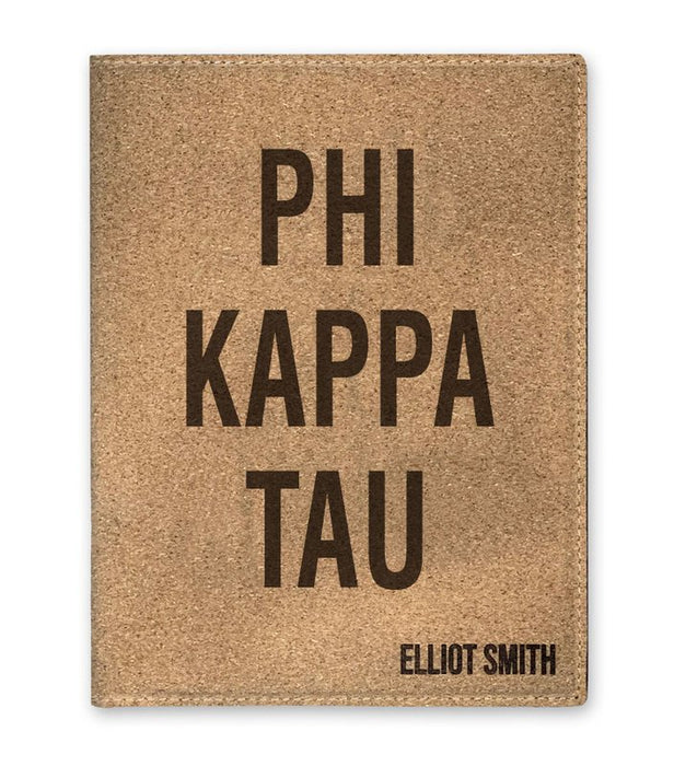 Phi Kappa Tau Cork Portfolio with Notepad