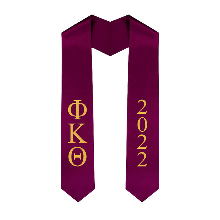 Phi Kappa Theta Vertical Grad Stole with Letters & Year