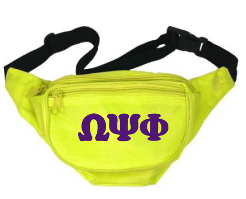 Omega Psi Phi Fanny Pack Letters Layered Fanny Pack