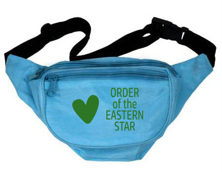 Order Of The Eastern Star Heart Fanny Pack