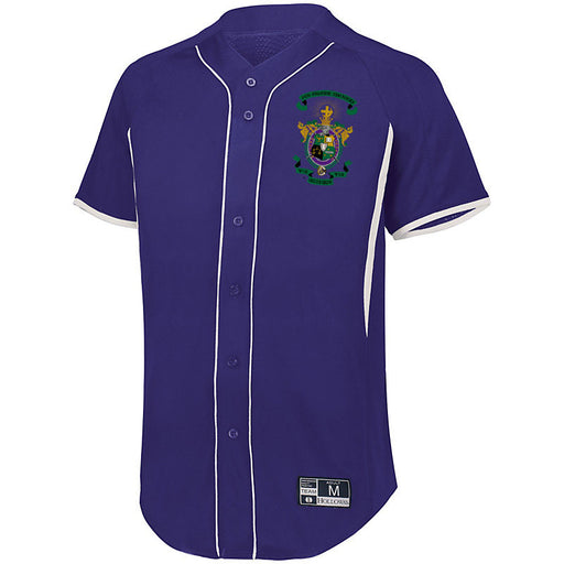 Lambda Chi Alpha 7 Full Button Baseball Jersey